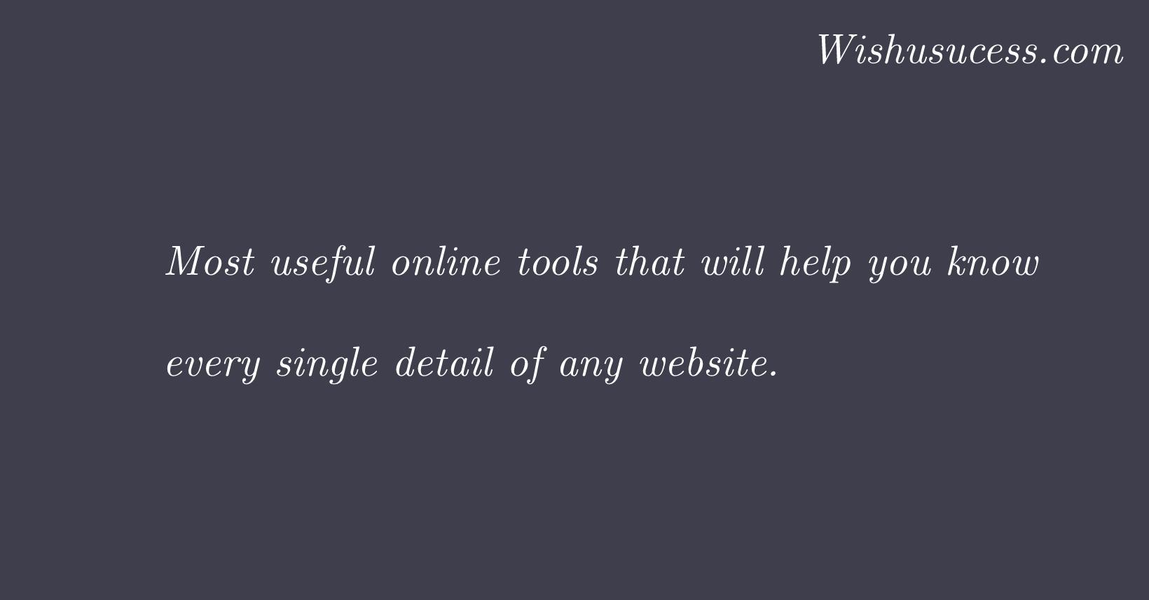 Best Online Tools for Website