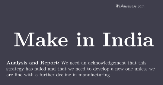 Analysis on Make in India Plan