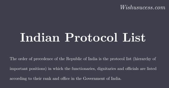 Indian order of precedence