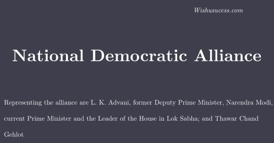 National Democratic Alliance (NDA)