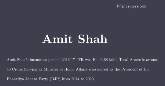 Amit Shah Net Worth