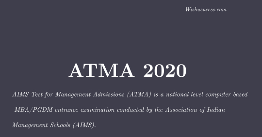 ATMA 2020 Exam Test