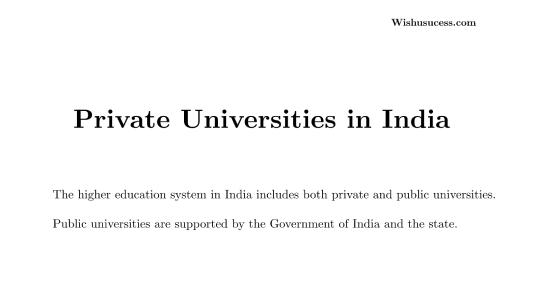 Private Universities in India 2020