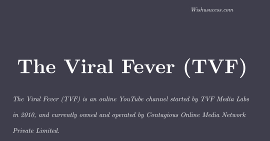 The Viral Fever (TVF)