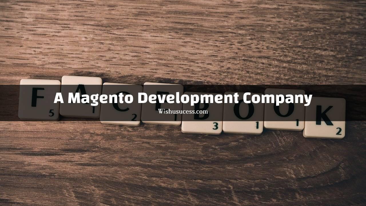 A Magento development company