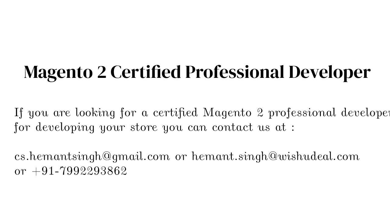 Magento Developer in Sharjah, UAE