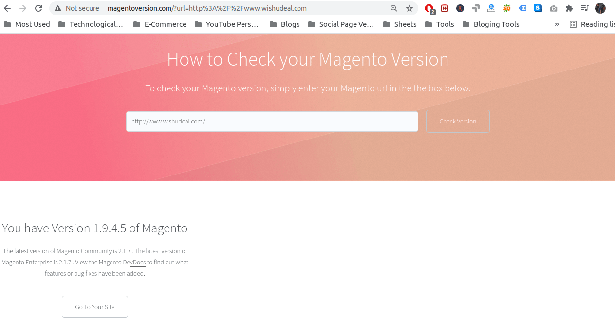 Wishudeal Magento Website