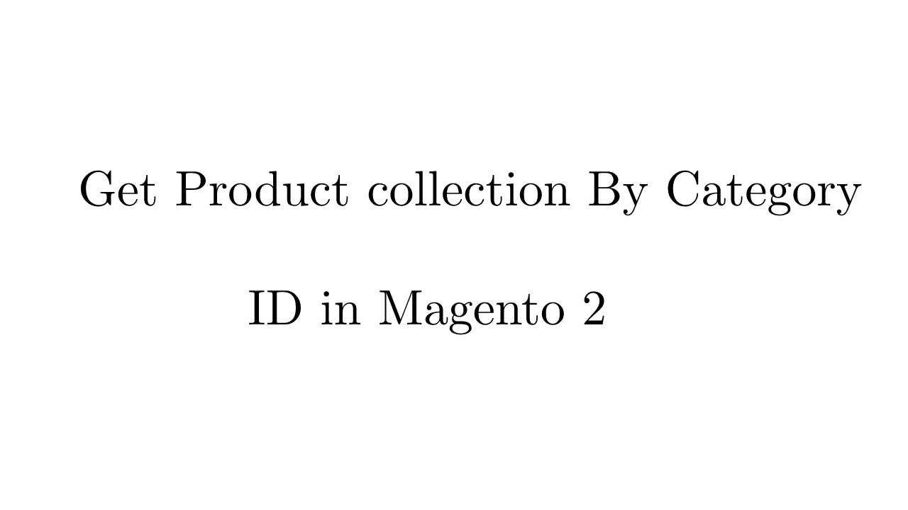 Get Product By Category ID