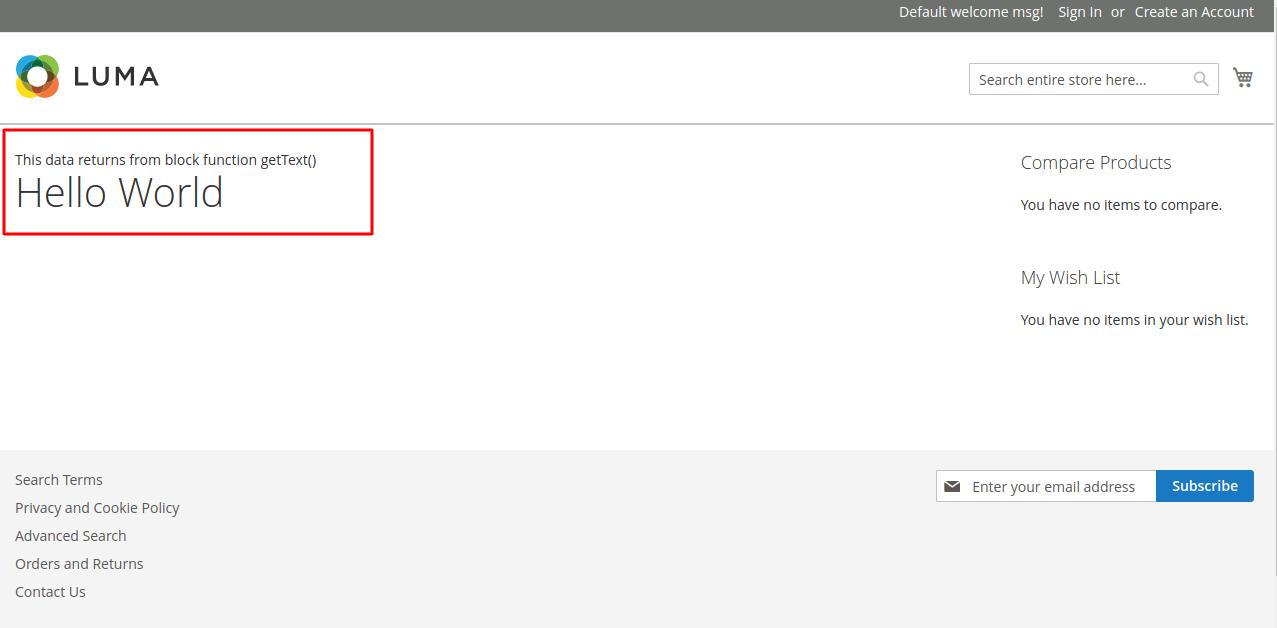 Magento 2 HelloWorld Extension