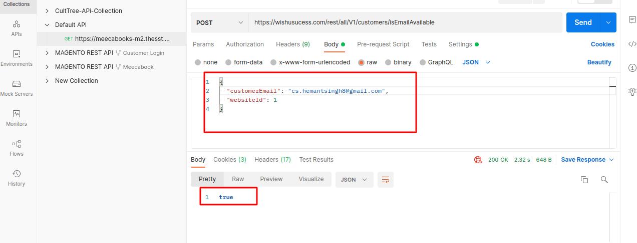 Check Email Avilablity Using Magento 2 REST API