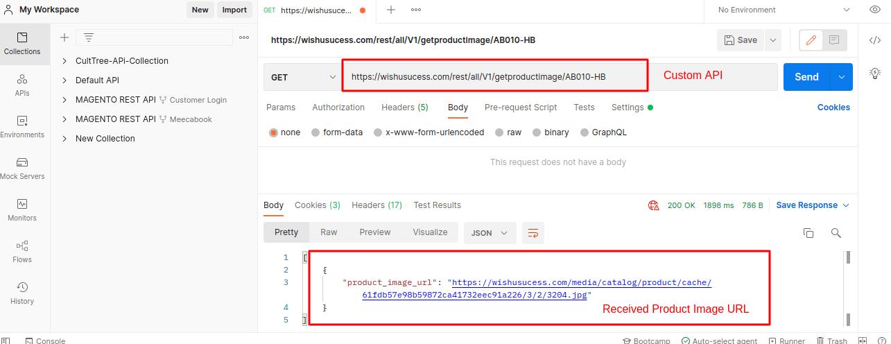Get Product Image URL REST API