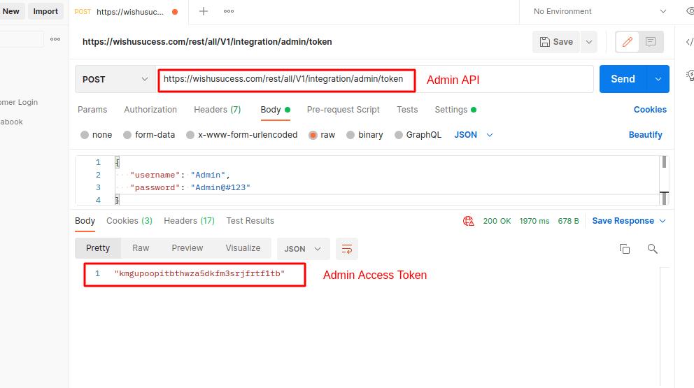 Magento 2 Admin Access Token