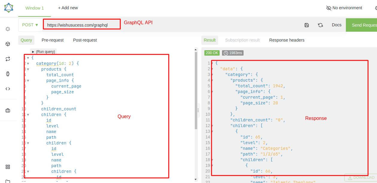 Magento 2 Get Categories List by GraphQL