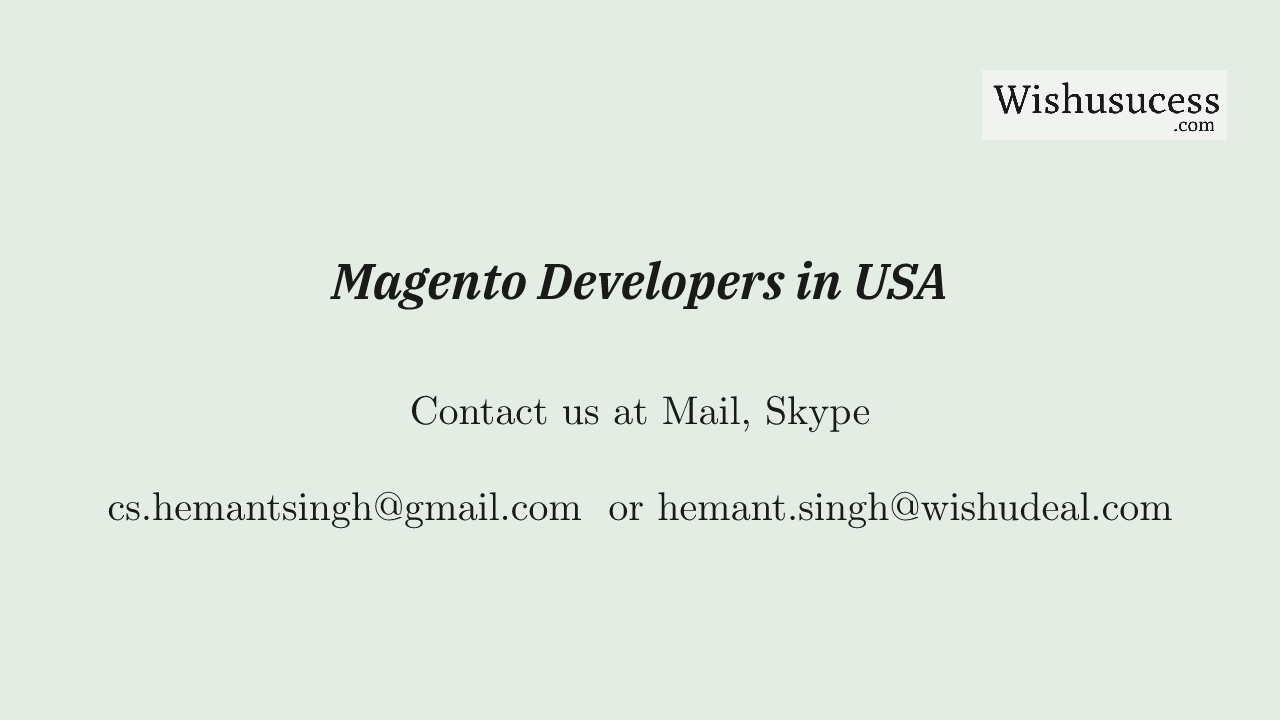 Magento 2 Top Developers in USA in 2021